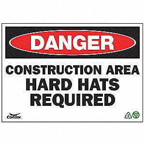 SIGN DANGER CONSTRUCTION 7X10 PL
