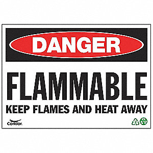 SIGN DANGER FLAMMABLE 7X10 PL