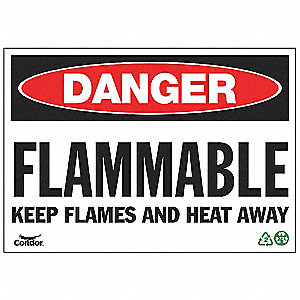 SIGN DANGER FLAMMABLE 7X10 SA