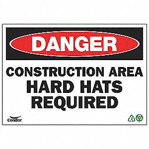 SIGN DANGER CONSTRUCTION 10X14 SA