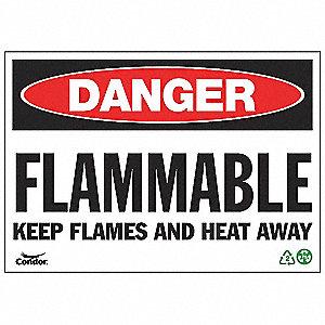 SIGN DANGER FLAMMABLE 10X14 SA