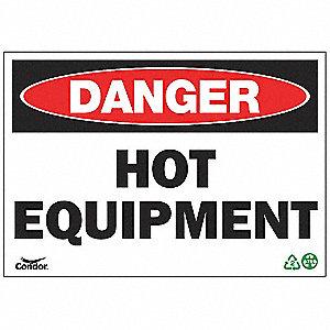 SIGN DANGER HOT 10X14 SA