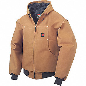 BOMBER JACKET W/HOOD INSULATED DUCK