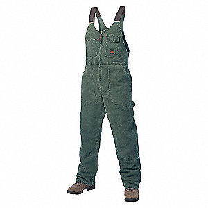 BIB OVERALL UNLINED WASHED DUCK