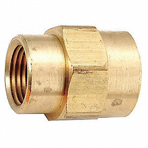 "Brass Reducing Coupling, FNPT, 3/8"" x 1/8"" Pipe Size (Fittings)"