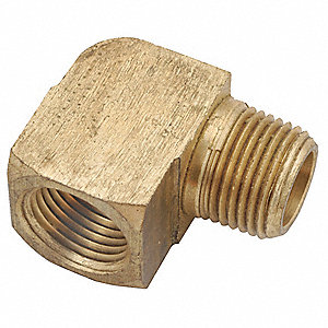 "Brass Street Elbow, 90°, MNPT x FNPT, 1/8"" Pipe Size - Pipe Fitting"