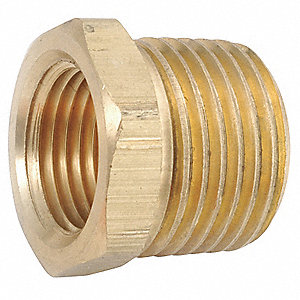 "Low Lead Brass Bushing, 3/4"" x 1/4"" Pipe Size,  1 EA"