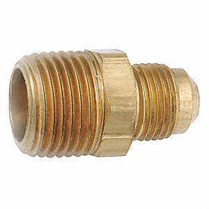 "Male Connector, 1/4"" Tube Size, 1EA"
