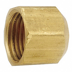 "Cap, Female Flare Connection Type, 1/4"" Tube Size, 1EA"