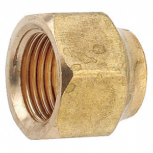 "Forged Nut, Female Flare Connection Type, 3/8"" Tube Size, 1EA"
