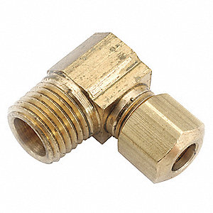 "Male Elbow, 1/2"" Tube Size, 3/4"" Pipe Size - Pipe Fitting, Metal"