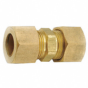 "Low Lead Brass Compression Union, 1/8"" Tube Size"