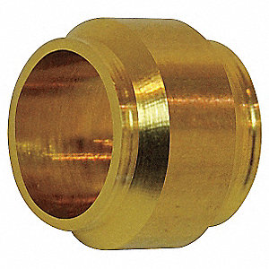 "Brass Compression Sleeve, 15/64"" Tube Size"