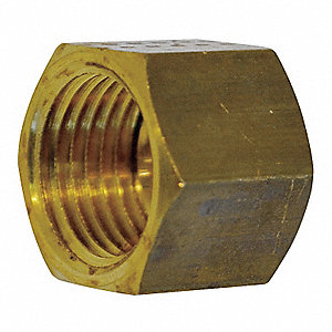 "Brass Female Compression Nut, 19/64"" Tube Size"