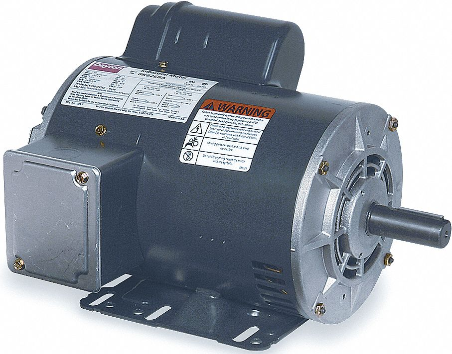 DAYTON 6K826 GP Mtr,CS,ODP,1-1//2 HP,1725 rpm,145T