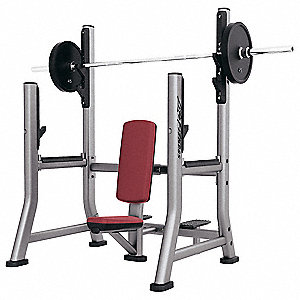 Workout Military Bench,325 lb.,66 in. H