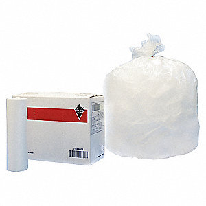 30 gal. Medium Trash Bags, Clear, Coreless Roll of 250