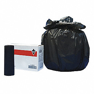 33 gal. Medium Trash Bags, Black, Coreless Roll of 250