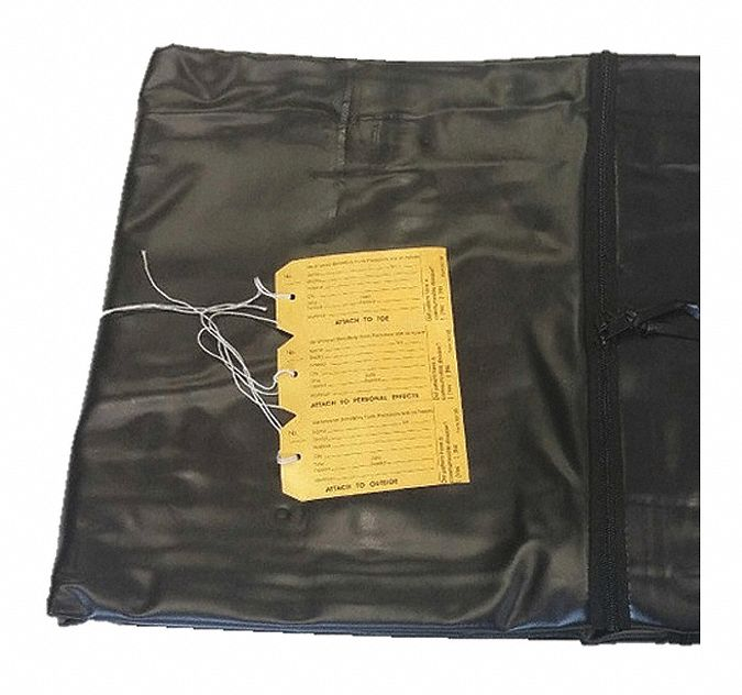 Cadaver Bag,  90 in Length,  42 in Width,  20 mil Thickness,  Vinyl