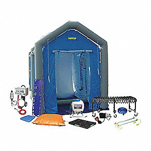 Decontamination Shower,Blue,96 in. L