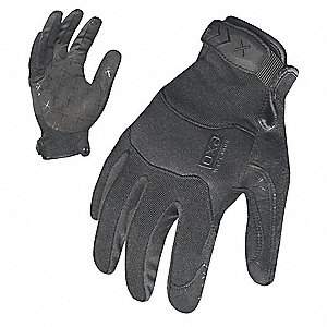 Women's General Utility Mechanics Gloves, Synthetic Leather Palm Material, Black, M, PR 1