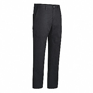 "Men's Work Pants, 65% Polyester/35% Cotton, Color: Black, Fits Waist Size: 42"" x 32"""