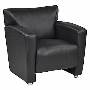 Awesome Office Star Reception Chair Faux Leather Black 46Mv03 Machost Co Dining Chair Design Ideas Machostcouk