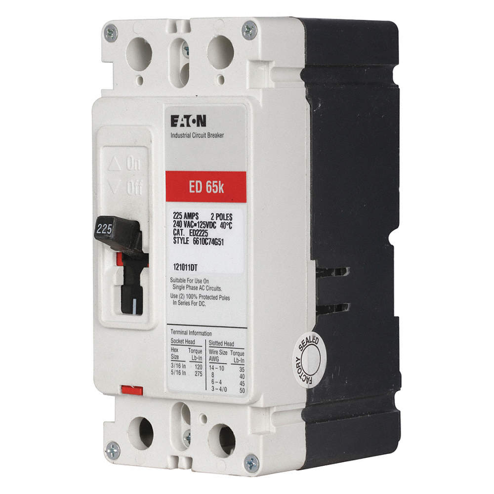 EATON Circuit Breaker, 200 Amps, Number of Poles: 2, 240VAC AC ...