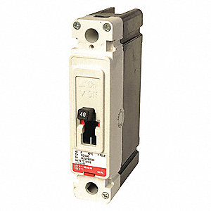 Circuit Breaker,  20 Amps,  Number of Poles:  1,  277VAC AC Voltage Rating