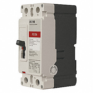Circuit Breaker,  50 Amps,  Number of Poles:  2,  600VAC AC Voltage Rating