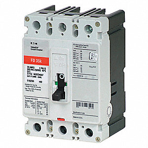 Circuit Breaker,  35 Amps,  Number of Poles:  3,  600VAC AC Voltage Rating