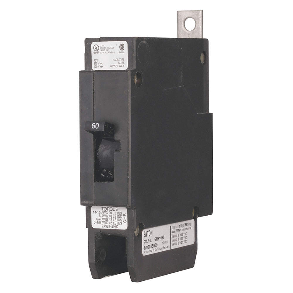 EATON Bolt On Circuit Breaker, 20 Amps, Number of Poles: 1, 480VAC ...