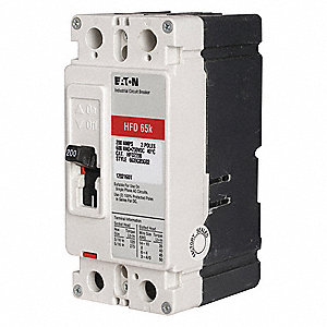Circuit Breaker,  20 Amps,  Number of Poles:  2,  600VAC AC Voltage Rating