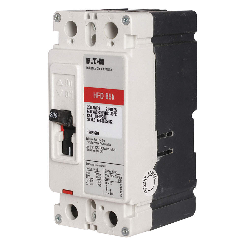 EATON Circuit Breaker, 20 Amps, Number of Poles: 2, 600VAC AC ...