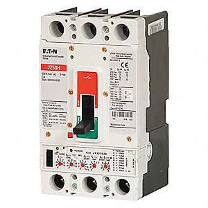 Circuit Breaker,  250 Amps,  Number of Poles:  3,  600VAC AC Voltage Rating