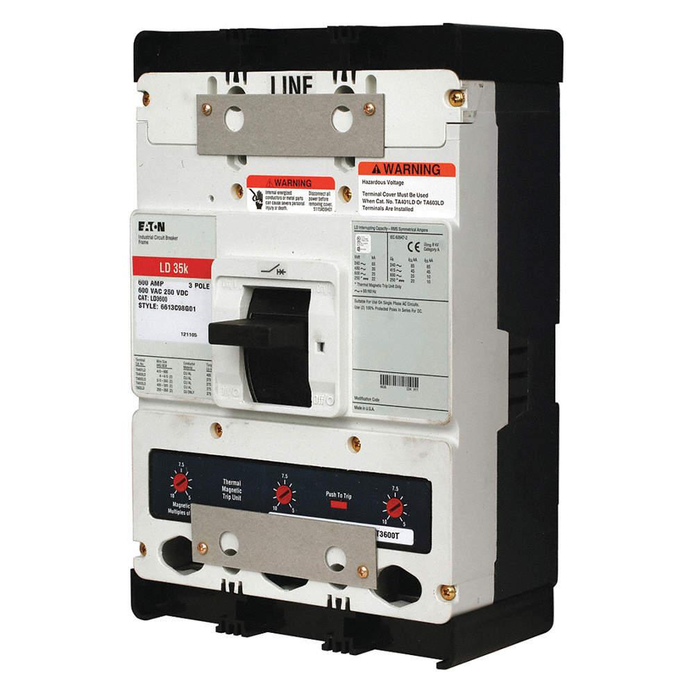EATON Circuit Breaker, 600 Amps, Number of Poles: 3, 600VAC AC ...