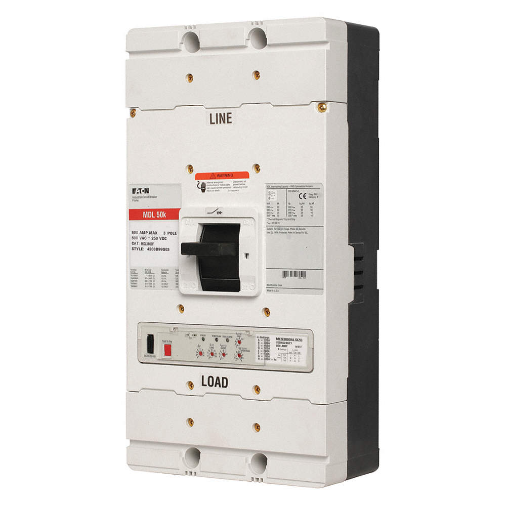 EATON Circuit Breaker, 800 Amps, Number of Poles: 3, 600VAC AC ...