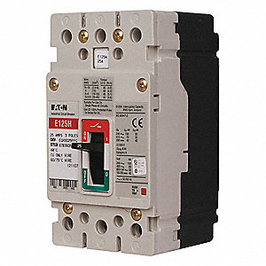 Circuit Breaker,  20 Amps,  Number of Poles:  3,  600VAC AC Voltage Rating