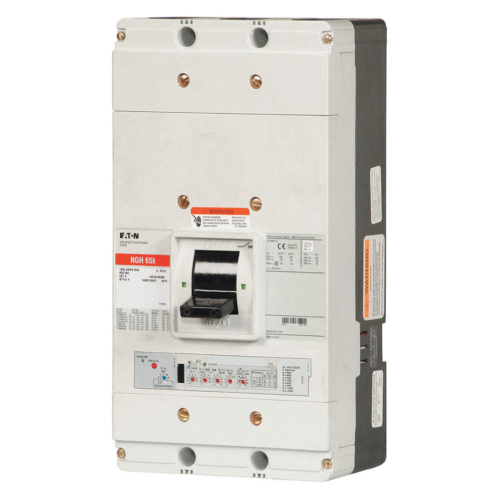 EATON Circuit Breaker, 1200 Amps, Number of Poles: 3, 600VAC AC ...