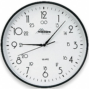 PLASTIC WALL CLOCK 12IN BATTERY