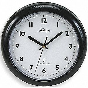 PLASTIC ATOMIC WALL CLOCK 10IN