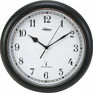 PLASTIC ATOMIC WALL CLOCK 12IN
