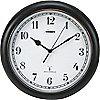 PLASTIC ATOMIC WALL CLOCK 12IN