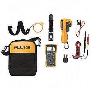 Mfg  No  Fluke-116 Multimeter w/Batteries, TL175 Test Leads,TPAK
