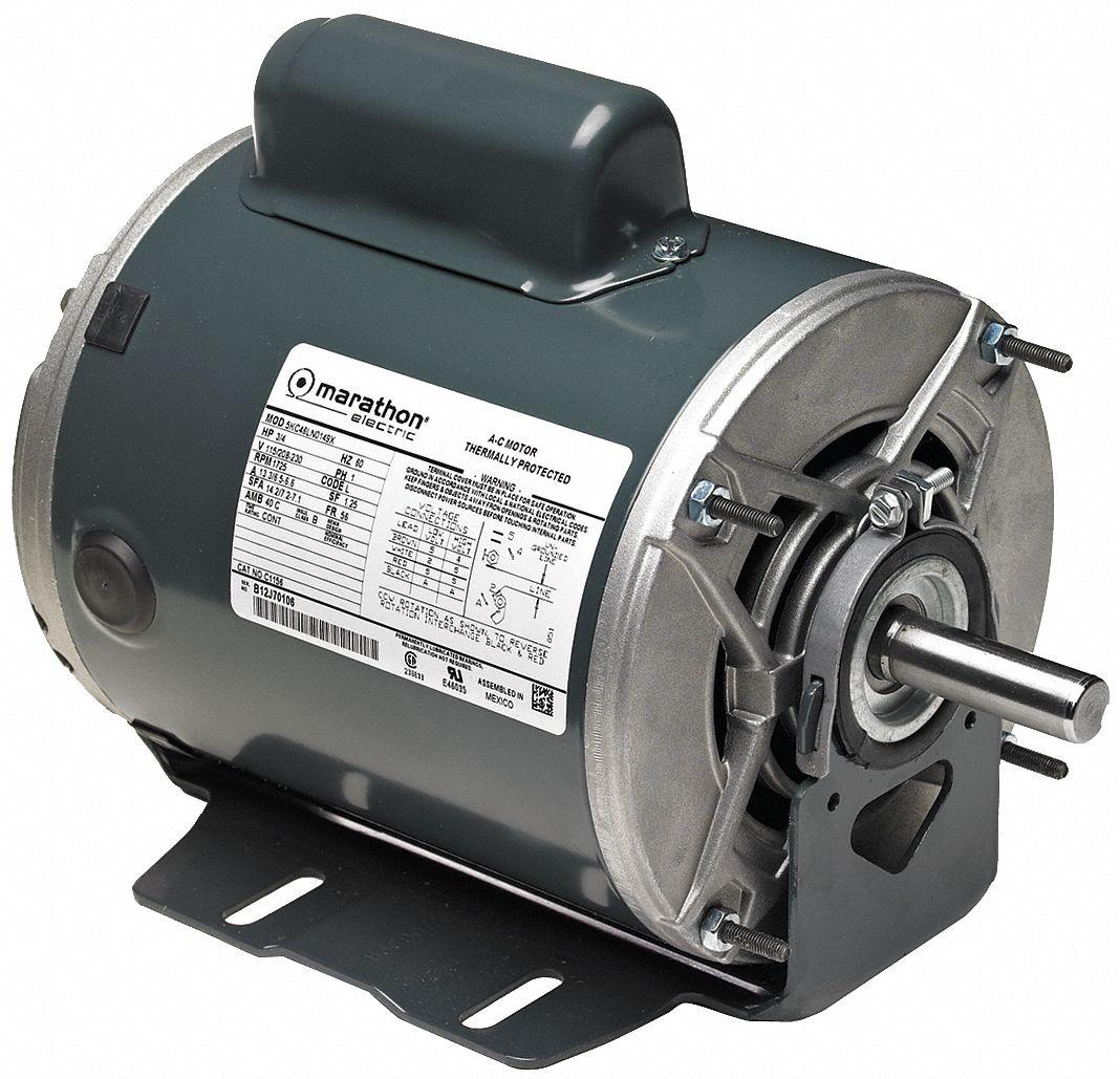 Marathon Motors General Purpose Motor 3 4 Hp Capacitor Start Nameplate Rpm 1 425 Voltage 115 230v Ac 46n363 5kc49nn0224x Grainger