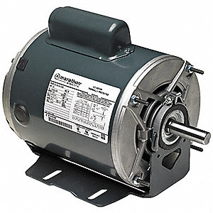 1, 1/3 HP General Purpose Motor,Capacitor-Start/Run,1725/1140 Nameplate RPM,Voltage 208-230,Frame 56
