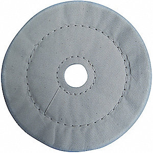 BUFFING WHEEL CSHIN SEWN 6 IN DIA.
