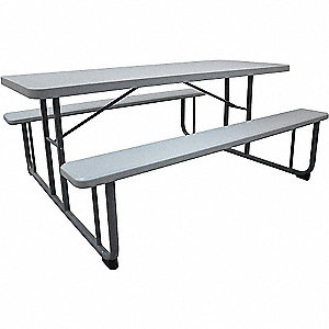 PICNIC TABLE, GRAY, 6FT