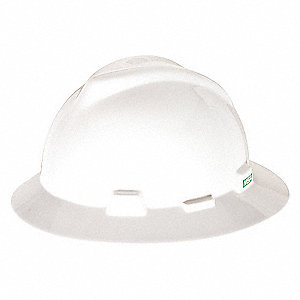 HAT,V-GD,W/1-TOUCH SUSP.,WHITE