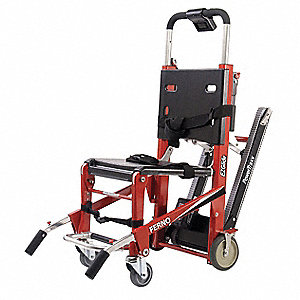 Metal Powered Stair Chair with 500 lb. Weight Capacity, Red